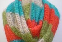 Women's Infinity Scarves / Fine kind mohair women's infinity scarves by MK