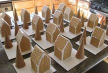Gingerbread Houses / We host a gingerbread house decorating party in December with proceeds to benefit the Capitol Hill Arts Workshop. Here are some great ideas for how to really create a beautiful gingerbread house.