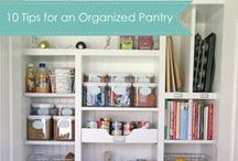 Pantry Space-Saving Organization / Get creative with your pantry organization to keep up a clutter-free and fully stocked pantry. There are plenty of tips and tricks to help you simplify your pantry with small cost.