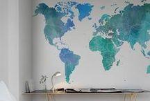 Déco voyage / Vous êtes accroc au voyage et si votre décoration s'en inspirait. Déco aux influences arabes, africaines, asiatiques. Des globes, des cartes. Tout l'univers du voyage dans votre salon.