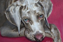 PORTRAITS BY NC - PETS / Custom Pet Portraits are painted in a verity of styles and mediums.  Contact me via artenzie@cox.net for a quote.
