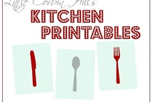 Kitchen Printables / Spruce up the kitchen or print, frame and gift to another to spruce up their kitchen!