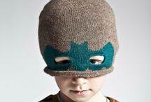 Chapeaux d'enfant / On adore faire porter aux enfants des bonnets guillerets, des chapeaux rigolos...