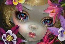 Art ~ Jasmine Becket-Griffith / Jasmine Becket-Griffith (born June 4, 1979) is a freelance artist who specializes in fairy, fantasy, and gothic artwork. Her preferred medium is acrylic on canvas or wood. Her designs appear on many lines of licensed merchandise, notably through the chain stores Hot Topic and collectibles through the Bradford Group including co-branded Disney projects. She is also a staple at fantasy conventions, namely Dragon*Con, MegaCon (Orlando) and FaerieCon. / by Steffy╰❤╮