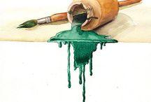 ♥BRUSHDANCER 2♥ / The good watercolors take a lifetime – plus a half an hour. (Toni Onley)  / by Carmen Mountford