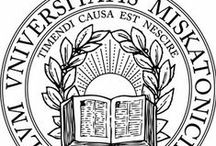 Miskatonic University / Ex Gnosis Ad Scientia - Miskatonic University in Arkham, Mass is dedicated to the study of Science, Liberal Arts, Medicine, Law and most importantly Medieval Metaphysics. MU was the third college in New England and the 7th in America. A commitment to diversity and intellectual freedom remains a hallmark of the University today.  Established as Miskatonic University in the town of Arkham, Masschusetts, the University moved to its present location on Arkham's College Hill in 1770. / by Geoffrey Kent Barton