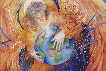 Mère à la Mer, les murmures de la Terre... / Parce que nous marchons tous sur la peau du monde, que nous le partageons et que nous lui devons du respect si nous voulons que les enfances aillent plus loin