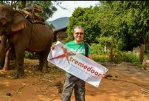 Rumble in the Jungle! / Vista challenged business development manager Ian Smith to have his picture taken in an extreme location with a branded banner. Ian took the banner deep into the jungle and was photographed on a mountainside, next to a waterfall and even with an elephant and his slightly bemused owner!