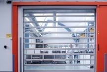 PVC & Automated Doors by Premier Plastics / For environmental control of dust, fumes, temperature & security.  Suitable for cleanrooms, carparks, carwashes, warehouses, freezers and coolrooms & processing areas.
