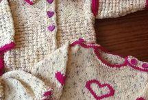 Moja práca - detské sety / Hackovanie a pletenie na zákazku