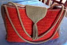 Taštičky, kabelky / Rôzne druhy modelov kabeliek, tašiek pletených a hačkovanych