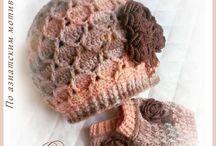 Detské hačkované čiapočky a čiapky / Inšpirácia modelov čiapok a pri niektorých modeloch je aj schéma