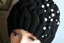 knitting - dámske pletené čiapky / Inšpirácie pletených dámskych čiapok Pri niektorých modeloch sú aj schémy.