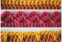 Pletenie - Lemy a obruby / ozdobné hačkované a pletené lemy a obruby