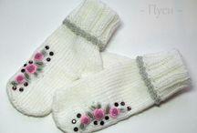 Rukavice pletené aj hačkované / Inšpirácie