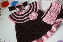 Hačkované šatečky  a tuniky / Inšpirácie aj schémy hačkovaných  modelov na detské tuniky a šatky