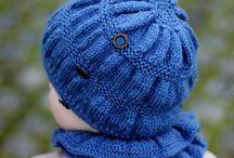 Detské pletené čiapky / Inšpirácie