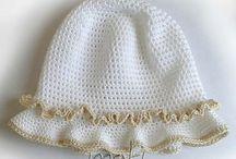 Hačkované klobúky - detské, dámske / Inšpirácie a schémy detských hačkovaných klobúčikov