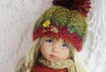 Oblečenie pre bábiky / Inšpirácie na pletené a hačkované oblečenie pre malé slečny