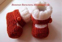 Botičky - papučky pre baby / Inšpirácie aj návody pre hačkované aj pletené papučky pre baby