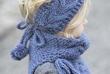 Šál, nákrčník  pre deti / Inšpirácie a videá pletené aj hačkovane nákrčníky a celé súpravy