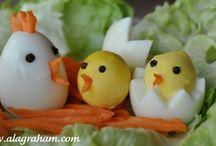 Vajičkové kreácie / Inšpirácie na Veľkú noc alebo studenú kuchýňu