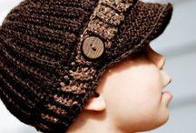 Pánske, chlapčenské čiapky / Video, inšpirácie pletených a hačkovanych čiapok