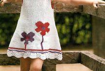 Pletené šatky,sukničky a tuniky / Detské inšpirácie - vzory na pletené oblečenie pre dievčatá