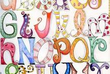 Alphabets for Journaling / The healing power of art is an amazing recovery tool. Here is a collection of alphabets for you to play with and add to your artwork.