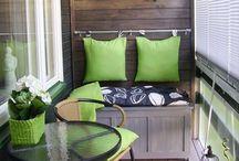 Balkóny / Rôzna úprava balkónov / aj takto sa dá využiť balkón