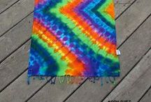 Tie Dye Scarves & Sarongs / One of a kind, hand dyed Scarfs & Sarongs. www.moondyes.com