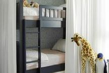 Shared Bedroom Inspiration / Having trouble getting the right look for your children's shared bedroom? Maybe you are thinking about combining a room and need ideas...  Well, here are some of the most unique, creative and space saving ideas!