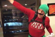 Jet Man Halloween / Jet Man Halloween Costumes and Jet's Pizza pumpkins