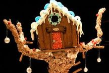 Cool Gingerbread Houses / People get pretty epically creative with holiday gingerbread houses these days.