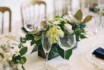 White & Greenery Weddings / White Theme Weddings Inspirations