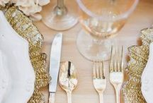 Gold Weddings / Gold Theme Weddings Inspirations