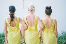 Yellow Weddings / Yellow Theme Weddings Inspirations