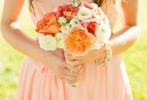 Peach Weddings / Peach Theme Weddings Inspirations
