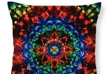 Tie Dye Throw Pillows / Our groovy Moon Dyes tie dye images on a throw pillow!