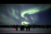 Auroras boreales / Las auroras boreales, son un común fenomeno que se da en los cielos nocturnos del ártico en invierno. Hay muchas explicaciones científicas del porqué suceden, pero sigue habiendo algo de misterio a este hecho.