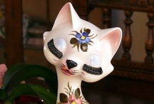 Cat Figurines. / by Patricia Routt