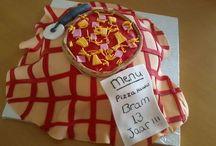 mijn eigen taarten! Zelf gemaakt!!
