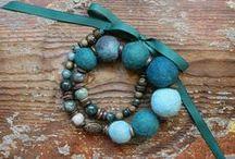 Jewelry by LovekaHandmade / My own designe necklace, nursing teathing necklace, wool felt necklace and brooches, gemstone braceletes, earings