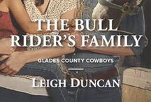 The Bull Rider's Family / Scenes, characters, images associated with The Bull Rider's Family, the first book in the Glades County Cowboys series.