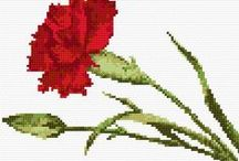Flower cross stitch bookmark patterns / A magic collection of flower-depicting cross stitch bookmark patterns