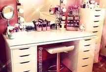 Vanity Table Inspiration / My Vanity Table Inspiration! Please visit my Blog at www.TheDiaryofaBeautyAddict.com for lots of Make Up, Beauty, Lifestyle and Fashion Reviews, Ideas and Inspiration! #TheBeautyAddict