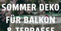Deko-Ideen für Balkon & Terrasse / Sobald die ersten warmen Sonnenstrahlen hervorkommen, wird der Balkon oder die Terrasse wieder zum absoluten Lieblingsplatz. Mit der richtigen Deko kann man sich ganz einfach eine eigene kleine Sommer-Oase zum Entspannen schaffen.