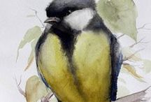 Watercolor Art by NIKOLA / Original watercolor paintings art by NIKOLA @NikolaWatercolor on #Etsyshop #NikolaWatercolor
