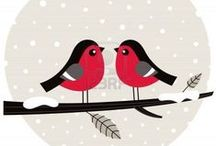 Christmas / Selection of cute vector illustrations designed by microstock artist Jana Guothova