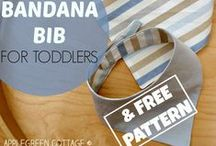 Make your own bibs / Patterns for making your own baby bibs - so easy and a great baby shower gift